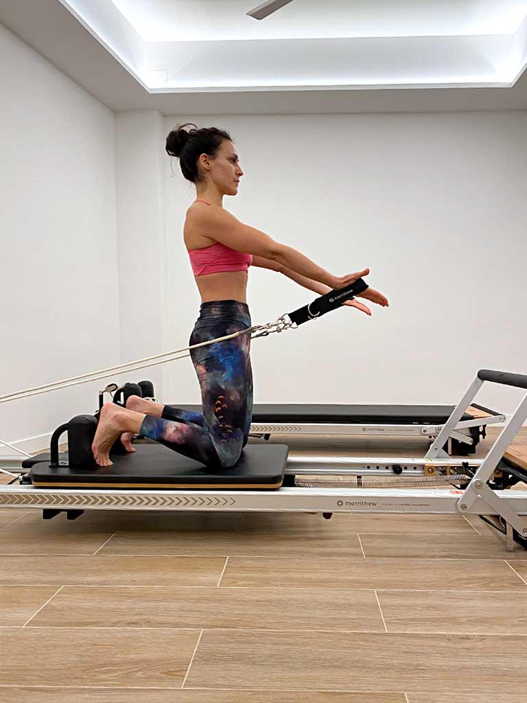 Trabajo muscular en pilates máquinas